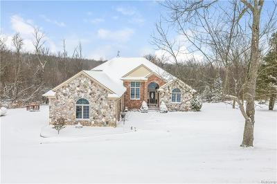 Oakland County Single Family Home For Sale: 5697 Hummer Lake Road