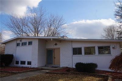 Bloomfield, Bloomfield Hills, Bloomfield Twp, West Bloomfield, West Bloomfield Twp Single Family Home For Sale: 7257 Pebblecreek Road