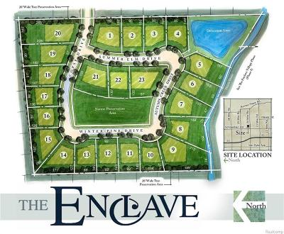 Shelby Twp Residential Lots & Land For Sale: Lot# 1 - 23 The Enclave