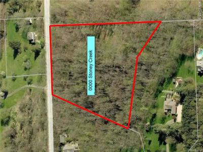 Oakland Twp Residential Lots & Land For Sale: Stoney Creek Road