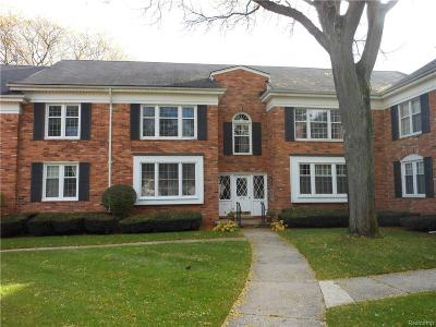 Bloomfield Twp Condo/Townhouse For Sale: 750