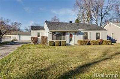 Plymouth Single Family Home For Sale: 8875 Elmhurst Avenue