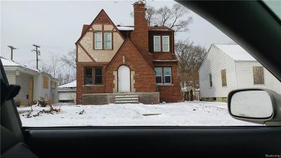 Detroit Single Family Home For Sale: 15325 Fielding Street