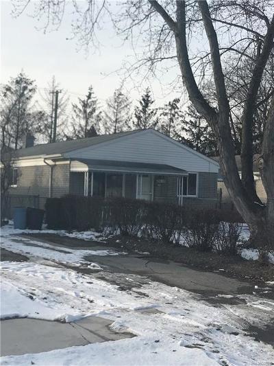 Southfield Single Family Home For Sale: 21035 Wakedon Street