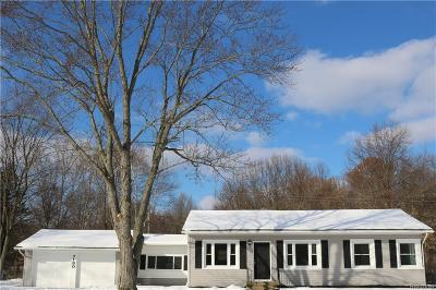 Waterford Single Family Home For Sale: 7130 Pontiac Lake Road