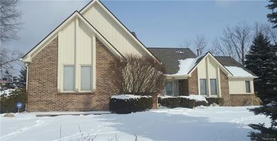 West Bloomfield Twp Single Family Home For Sale: 6811 Ravines Circle