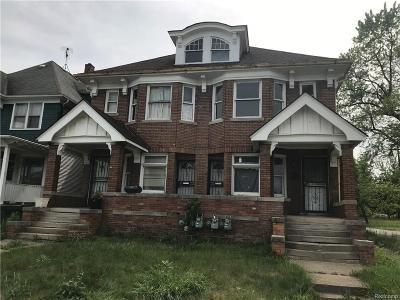 Detroit Multi Family Home For Sale: 985 E Grand Boulevard