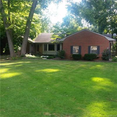 Livonia Rental For Rent: 16857 Bell Creek Lane