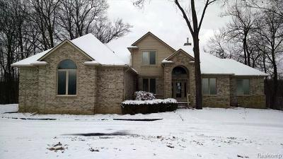 City Of The Vlg Of Clarkston, Clarkston, Independence Twp Single Family Home For Sale: 7625 Cameo Lane