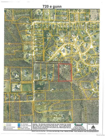 Oakland Twp Residential Lots & Land For Sale: 720 E Gunn Road