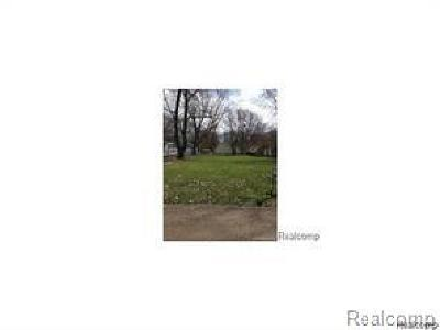 Waterford Twp Residential Lots & Land For Sale: Pheasant Road