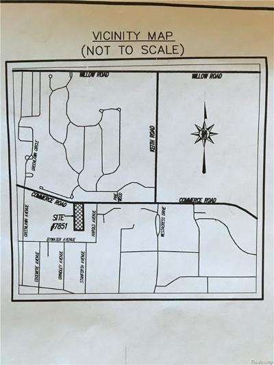 West Bloomfield Twp Residential Lots & Land For Sale: 7851 Commerce Road