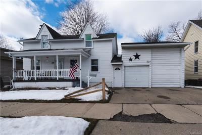 Marine City MI Single Family Home For Sale: $124,900