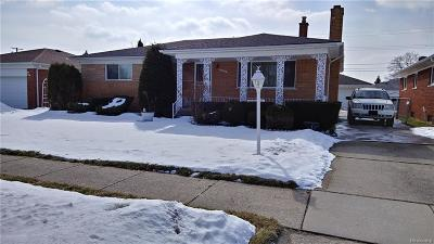 Eastpointe Single Family Home For Sale: 18376 Lister Avenue
