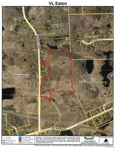 Springfield Twp MI Residential Lots & Land For Sale: $174,900