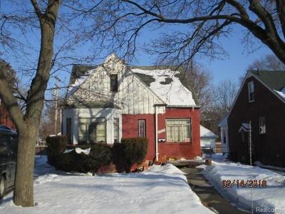 Detroit Single Family Home For Sale: 18974 Alcoy Street