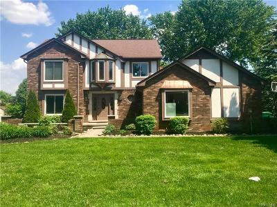 Sterling Heights, Washington, Washington Twp, Bloomfield Hills, Bloomfield Twp, Novi, Royal Oak, Royal Oak Twp Single Family Home For Sale: 8522 Springwood Way