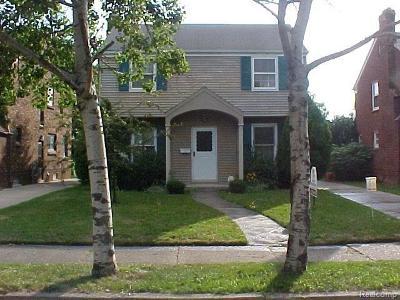 Detroit Single Family Home For Sale: 3906 Harvard
