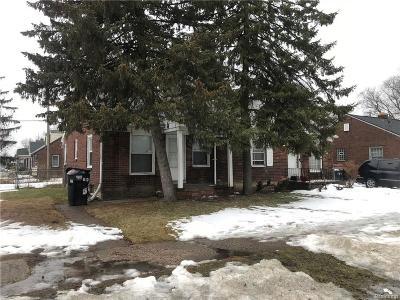 Detroit Single Family Home For Sale: 18842 Moross Road