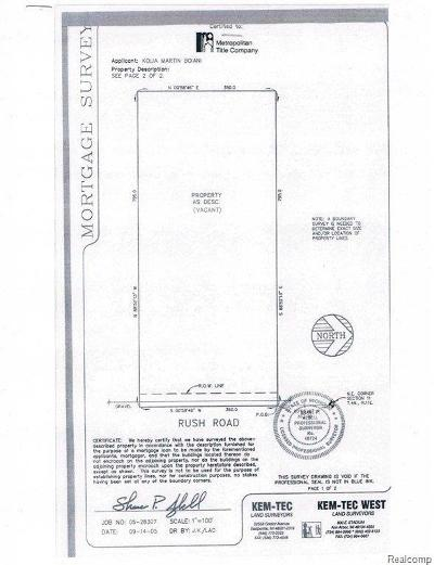 Oakland Twp Residential Lots & Land For Sale: Vacant Rush