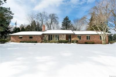 Bloomfield, Bloomfield Hills, Bloomfield Twp, West Bloomfield, West Bloomfield Twp Single Family Home For Sale: 4944 Cimarron Drive