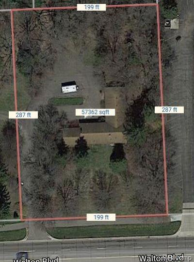 Rochester, Rochester Hills Residential Lots & Land For Sale: 1590 Walton Boulevard