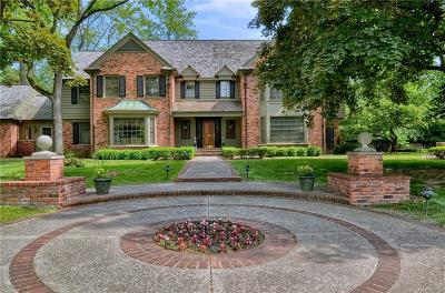 Bloomfield Hills Single Family Home For Sale: 300 Cranbrook Road