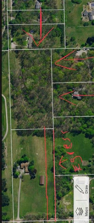 Brandon Twp Residential Lots & Land For Sale: Reese Road
