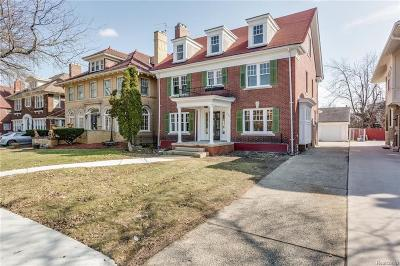 Detroit Single Family Home For Sale: 1991 Chicago Boulevard