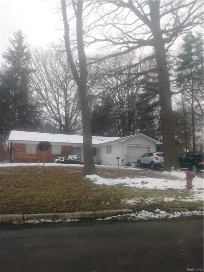 Southfield Single Family Home For Sale: 17345 Catapla Drive