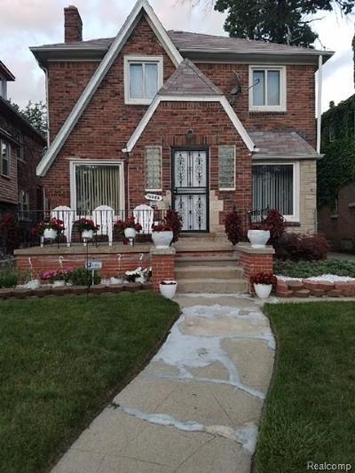 Detroit Single Family Home For Sale: 16566 Lawton Street N