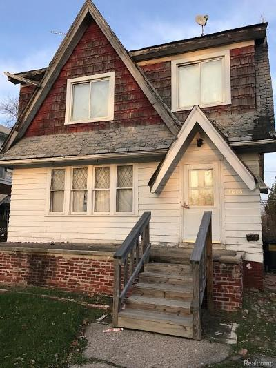 Macomb County, Oakland County, Wayne County Single Family Home For Sale: 4000 Berkshire Street
