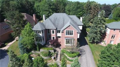 West Bloomfield Twp MI Single Family Home For Sale: $2,490,000