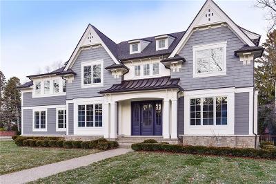 Birmingham MI Single Family Home For Sale: $2,395,000