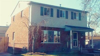 Harper Woods MI Single Family Home For Sale: $149,900