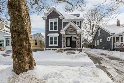 Birmingham MI Single Family Home For Sale: $599,000