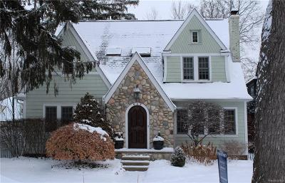 Birmingham MI Single Family Home For Sale: $928,000