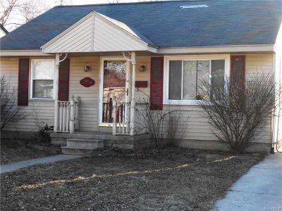 Hazel Park Single Family Home For Sale: 23084 Pilgrim Avenue