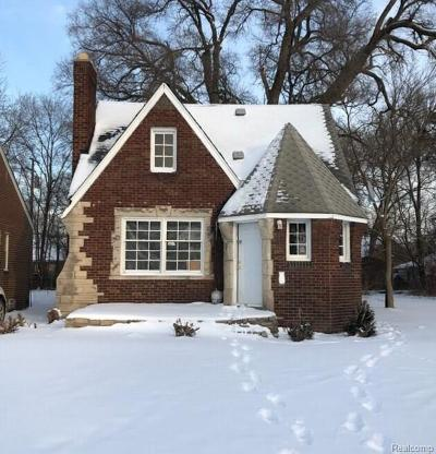 Detroit Single Family Home For Sale: 9500 Wayburn Street