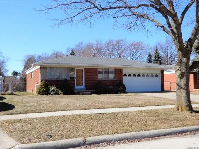 Warren MI Single Family Home For Sale: $114,900