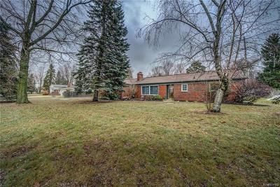 Rochester Hills Single Family Home For Sale: 1062 N Adams Road