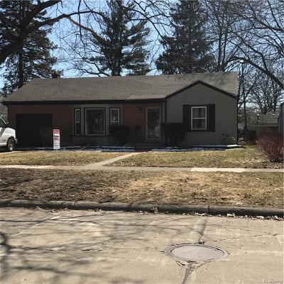 Royal Oak Single Family Home For Sale: 4403 Samoset Road