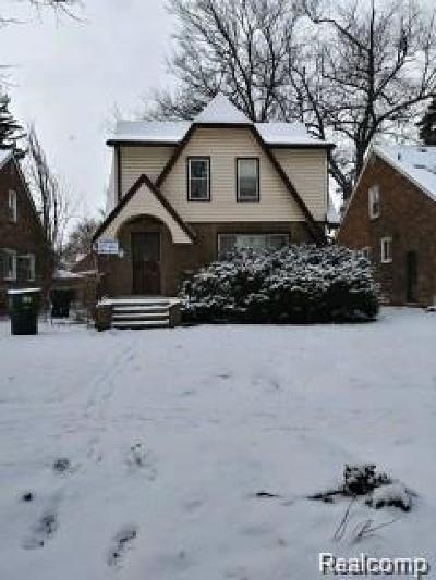 Detroit Single Family Home For Sale: 9607 Mark Twain Street