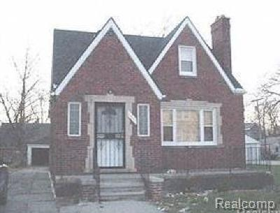 Detroit Single Family Home For Sale: 19143 Cliff Street