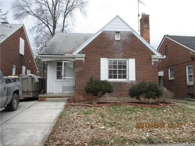 Detroit Single Family Home For Sale: 8069 Whitcomb Street