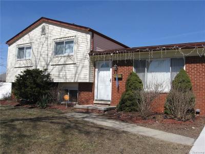 Warren MI Single Family Home For Sale: $165,000