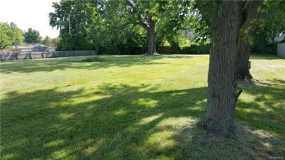 Clinton Twp Residential Lots & Land For Sale: Mabon St.