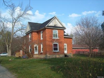 Genesee County Single Family Home For Sale: 1288 W Cook Road