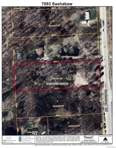 Commercial Lots & Land For Sale: 7093 Sashabaw Road