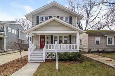 Birmingham, Bloomfield Hills Single Family Home For Sale: 1428 Bird Avenue